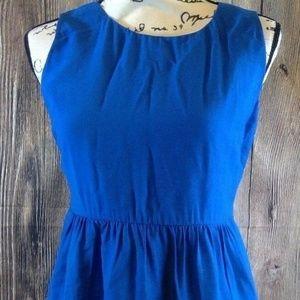 FOREVER 21 Essentials Women'sBlue Sleeveless Dress